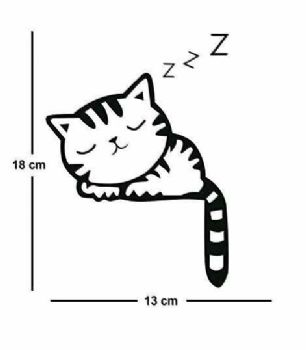 Sleeping Cat Lightswitch Sticker